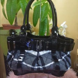 Authentic Burberry Smoke Check Patent leather bag